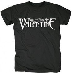 Tricou Bullet For My Valentine: Logo - MetalHead Merch Bullet For My Valentine, Logo Color, Short Sleeves, Colour Black, Logos, Mens Tops, T Shirt, Metalhead, Cotton