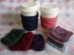 crochet cup holders on Etsy, a global handmade and vintage