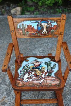 Cabin decor Restored Rustic Antique Rocking Chair western cowhide Navajo design Santa Fe style | Rocking chairs Vintage antiques and Vintage : western rocking chairs - Cheerinfomania.Com