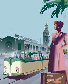 "Tranvía de San Francisco ""Boat Tram"", de Market Street Railway, USA"