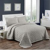 Found it at Wayfair - Marquis 3 Piece Coverlet Set in WHITE