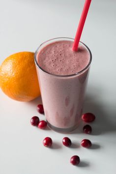 This cranberry orange smoothie is packed with vitamins and protein and is perfect for those mornings where you have to breakfast on the run.
