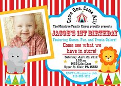 Download Now Circus Birthday Party Invitations Ideas