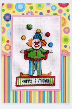 free cross stitch chart clown