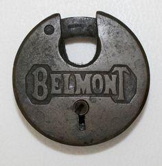 Vintage BELMONT Brass PADLOCK  NO  KEY