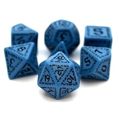 RPG Dice Set (Rune Blue) roleplaying game dice