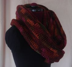 Multicolor Crochet Circle Scarf by BFCouture on Etsy, $50.00