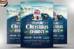 Best Orphan Christmas Dinner Flyer CreativeWork247 - Fonts, Graphics, Theme...