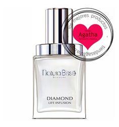 Natura Bissé Diamond Life Infusion Serum 25 ml.  Diamond Life Infusion es un potente serum rejuvenecedor de la piel mejorando la líneas de expresión, arrugas, mejorando volúmenes y el envejecimiento prematuro de la piel.  Reconstruye la piel, aumenta el cólageno y el ácido hialurónico. La piel consigue rejuvenecerla 3,9 años en sólo una semana.