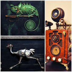 Steampunk interesting from metal parts http://veu.sk/index.php/aktuality/1740-zaujimavy-steampunk-z-kovovych-dielov.html #steampunk #interesting #from #metal #parts