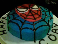 The Flour Bin How to Make an Easy Spiderman Cake Birthday Party