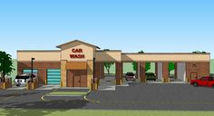 car wash building drawing | Car Wash East Elevationjpg