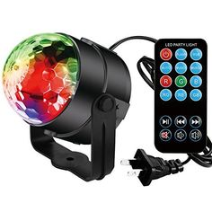 DJ lights Disco Party Ball Projector Lamp Spriak LED Rotating Magic lights 7 Color Sound Activated Stage Strobe Effect Show Wedding Lighting bulb Kids Night Lights for GiftsToysHomeClubHoliday This is among the top selling products in Musical Instruments category in USA. Click below to see its Availability and Price in YOUR country.