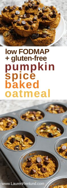 low fodmap pumpkin spice baked oatmeal