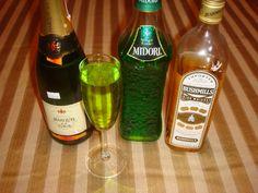 St.Patrick's day drink.  1oz each then top w champange