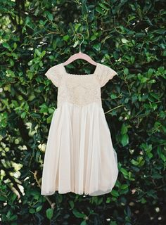 - Repinned by Prindler Productions - Pretty flower girl dress: http://www.stylemepretty.com/california-weddings/2015/06/19/elegant-california-coast-inspiration-shoot/ | Photography: Mint Photography - http://mymintphotography.com/