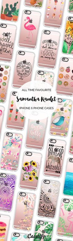 All time favourite iPhone 6 protective phone case designs by @samantharanlet   Click through to see more iPhone phone case ideas >>> https://www.casetify.com/bysamantha/collection   @casetify