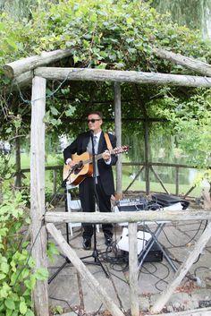 Singer Paul Koidis playing music as bride & groom walk down the isle Song: Oh-hey By: The Lumineers The Lumineers, Bride Groom, March, Singer, Music, Wedding, Casamento, Muziek, Weddings