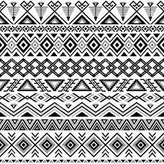 Ethnic Seamless Pattern. Aztec Black-white Background. Tribal.. Royalty Free Cliparts, Vectors, And Stock Illustration. Image 36793934.