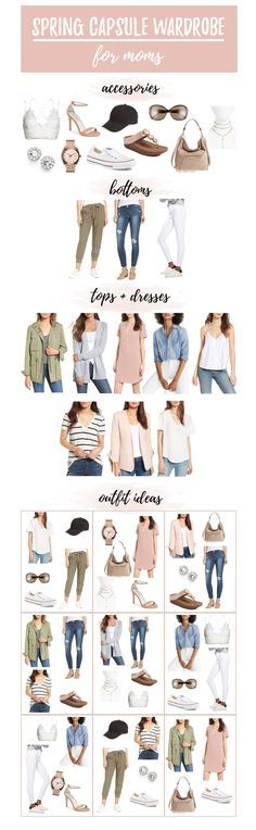 Looking to trim you wardrobe? Sharing 12 ways to restyle your best casual wardrobe basics with a Spring capsule wardrobe for moms 2018 in collaboration with @nordstrom #sponsored #springoutfits #capsulewardrobe