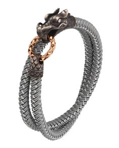 Naga Nylon Cord Wrap Bracelet, Gray by John Hardy at Neiman Marcus.