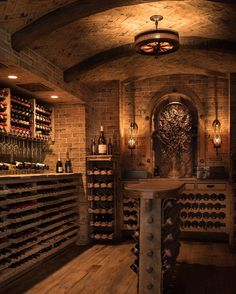 This new collection of interior designs will show you 20 Absolutely Glorious Mediterranean Wine Cellar Designs You'll Go Crazy For. Caves, Wine Cellar Basement, Cave Bar, Wine Cellar Design, Wine Bar Design, Wine Cellar Modern, Home Wine Cellars, Wine Tasting Room, Wine House