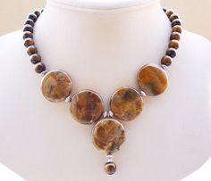 Ocean Jasper Statement Necklace by BigSkiesJewellery, $56.00 #beadednecklace…