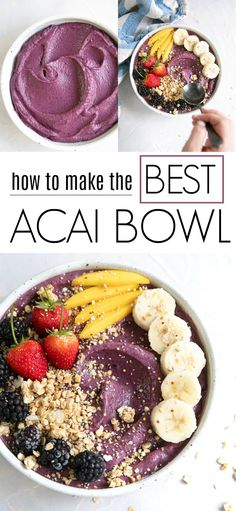 Acai Bowl Acai Bowl,Gesundheit Related posts:Healthy Snacks and Treats Recipes {The BEST and Yummiest!} Healthy foodGluten-free banana bread in a mug Healthy foodAre You Ready to Transform Your Life? - Diary of a Fit. Acai Recipes, Smoothie Recipes, Gourmet Recipes, Acai Smoothie Bowl Recipe, Smoothie Detox, Steak Recipes, Salmon Recipes, Copycat Recipes, Lunch Recipes