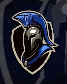 Logo E Sports, Fantasy Football Logos, Spartan Logo, Hockey Logos, Design Art, Graphic Design, Game Logo Design, Esports Logo, New Fantasy