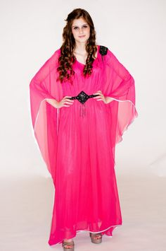 Hey, I found this really awesome Etsy listing at http://www.etsy.com/listing/93553364/lf-19-pink-chiffon-maxi-dress-caftan-one