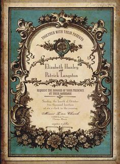 Vintage Perfume Label Wedding Invitations