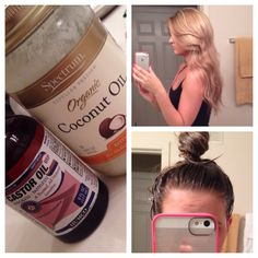 Coconut oil + Castor oil = Shiny, smooth, thicker, and longer hair!!