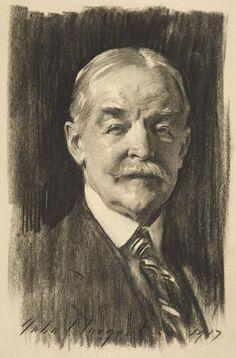 Portrait of Dr. Denman Waldo Ross, 1917 // by John Singer Sargent (American…