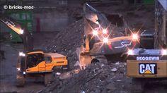 Bagger Abbruch Duisburg Rheinhausen Caterpillar Volvo Excavator Demoliti...