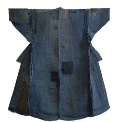 Sri | A Beautifully Patched Indigo Dyed Cotton Kimono: Hand Spun Threads