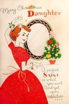 She's no saint at Christmas.
