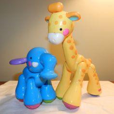 Fisher Price AMAZING ANIMALS Giraffe and Elephant 2 Piece Set Fisher $9.99