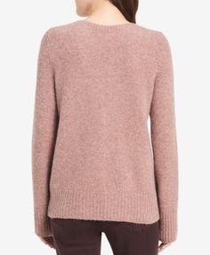 Calvin Klein Jeans V-Neck Long-Sleeve Sweater - Purple XL