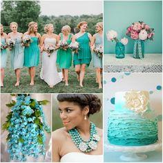 bodas azul turquesa verde limon - Buscar con Google