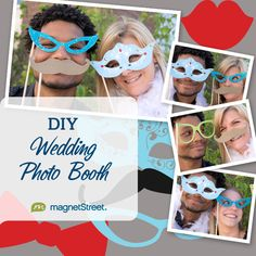 Having a photo booth at your wedding reception? Fill your costume box with these FREE printable photo booth props.