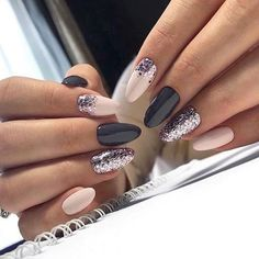 nail art designs for winter \ nail art designs ; nail art designs for spring ; nail art designs for winter ; nail art designs with glitter ; nail art designs with rhinestones Light Pink Nail Designs, Light Pink Nails, Nail Art Designs, Dark Grey Nails, Nail Pink, White Nail, Black Nails, Pink Glitter, Matte Black