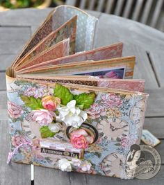 Make this handmade recipe book with @Susan Lui's wonderful tutorial. It uses paper bags and A Ladies' Diary! #graphic45 #tutorials