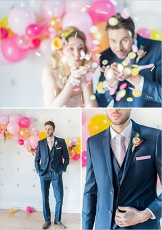 navy and pink groom look @weddingchicks