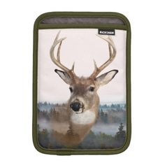 Whitetail Deer Double Exposure iPad Mini Case Sleeve For iPad Mini