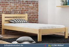 Das Bett aus natürlichen Kiefernholz passt besonders gut zu klassisch oder auch zu modern dekorierten Räumen. 🛏️  #Bett #Massivholzbett #Jugendbett #Einzelbett #BettmitLattenrost Decor, Couch, Chaise Lounge, Bed, Furniture, Lounge, Chaise, Home Decor, Toddler Bed