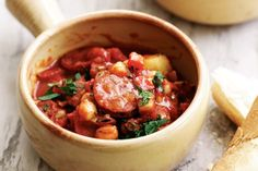 Spicy Spanish sausages makes this hearty stew taste sensational.