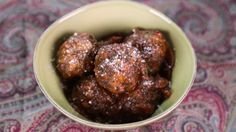 Neapolitan Meatballs with Red Wine Rosemary Sauce