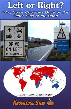 What is the origin of driving on the left side of the road, and why do the majority of countries drive on the right?  Find out why.