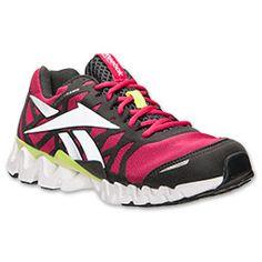 Women's Reebok ZigTech Shark 3.0 EX Running Shoes| FinishLine.com | Candy Pink/Gravel/Neon Yellow