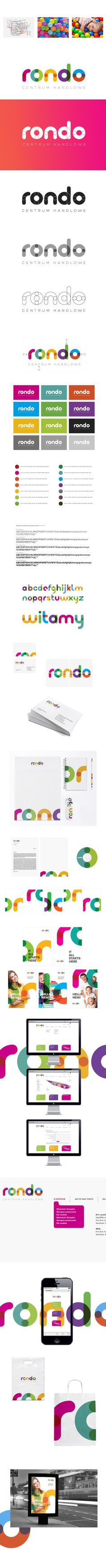 shopping mall RONDO re-branding by piotrek bdsn okrasa, via Behance http://jrstudioweb.com/diseno-grafico/diseno-de-logotipos/